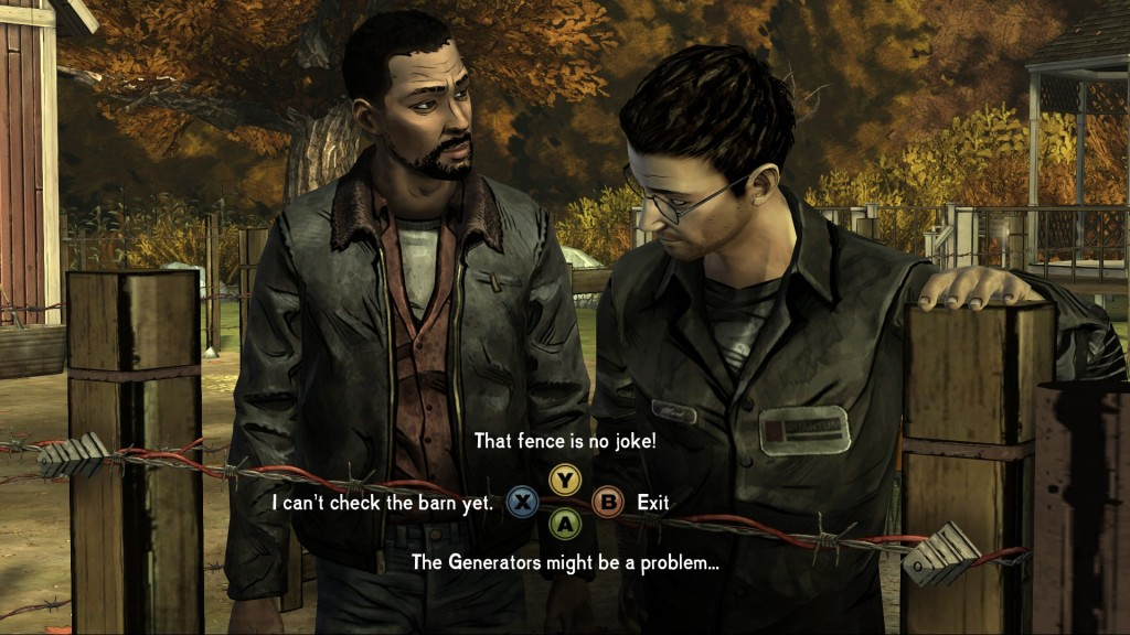 Walking Dead Dialogue Screen