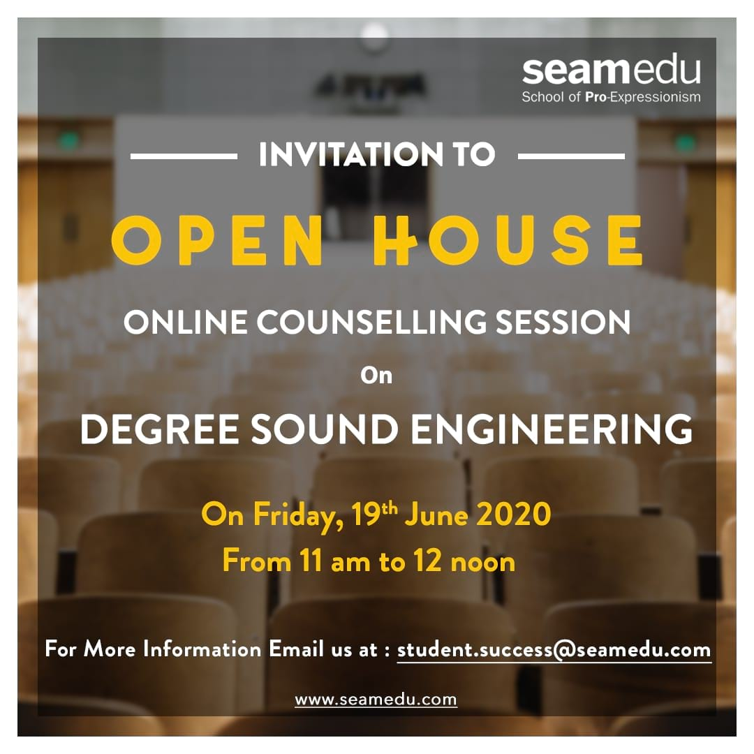 Open House Counseling session on Degree Sound Engineering